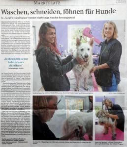 Osterholzer Kreisblatt berichtet über Sarah's Hundesalon in Ritterhude